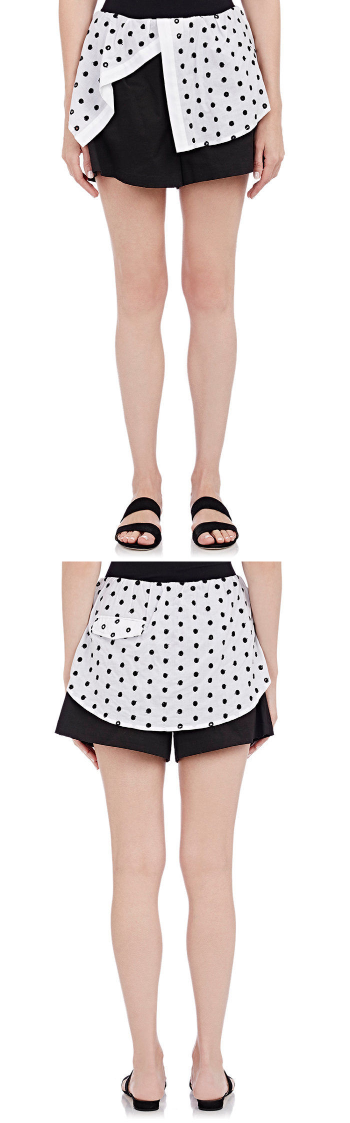 Shorts 11555: New $368 Thakoon Addition Shirttail Look Shorts Black White Us Size 6 -> BUY IT NOW ONLY: $30 on eBay!
