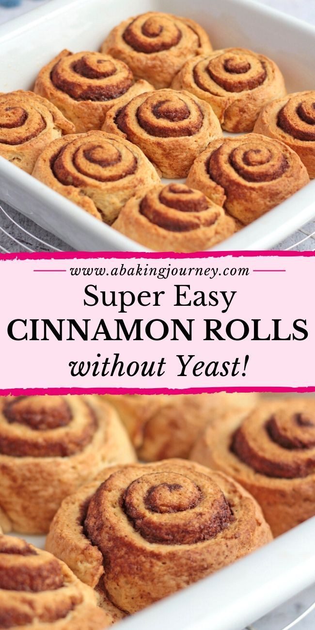 This quick No Yeast Cinnamon Rolls recipe is a great ...