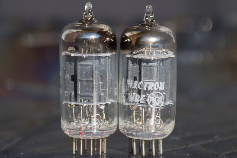 Pair Rca Strong 12au7 Ecc82 Carbon Long Plate Getter 1956 Preamp Vacuum Tubes Rca Vacuum Tube Mason Jar Lamp Tube
