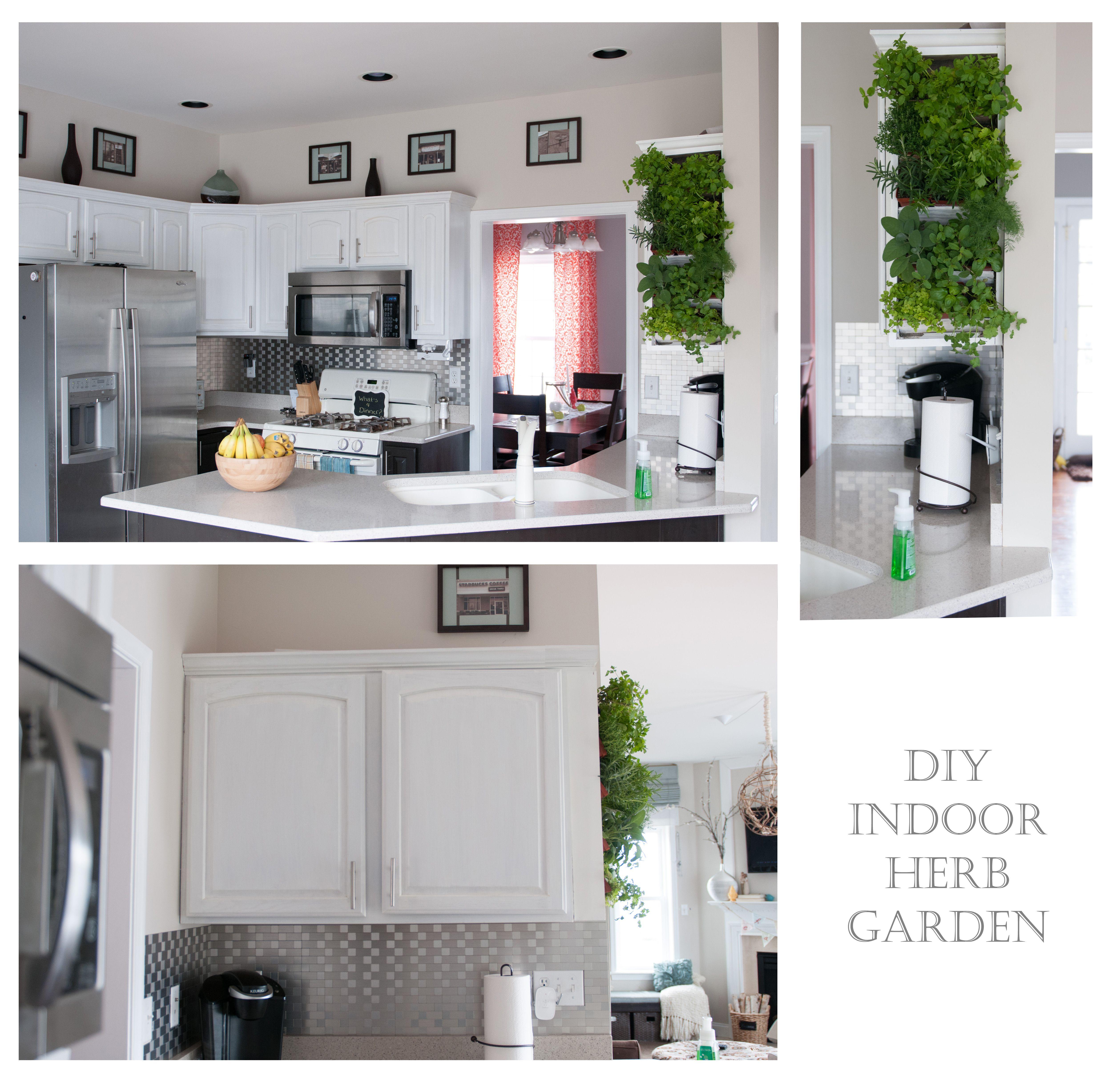 Diy indoor herb garden mounted measure side of