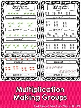 Worksheets Making Groups Of 10 Worksheets multiplication making groups student the ojays and pictures this group of 10 worksheets are great for practice students