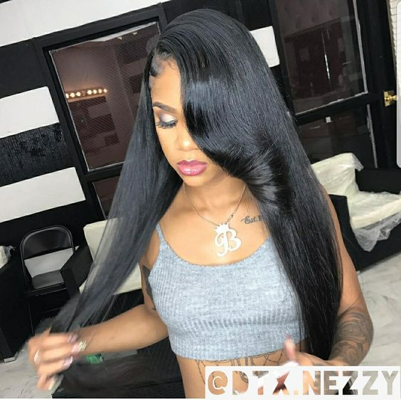 Silky Straight Hair Sew In Side Part Straight Weave Hairstyles Weave Hairstyles Hair Styles