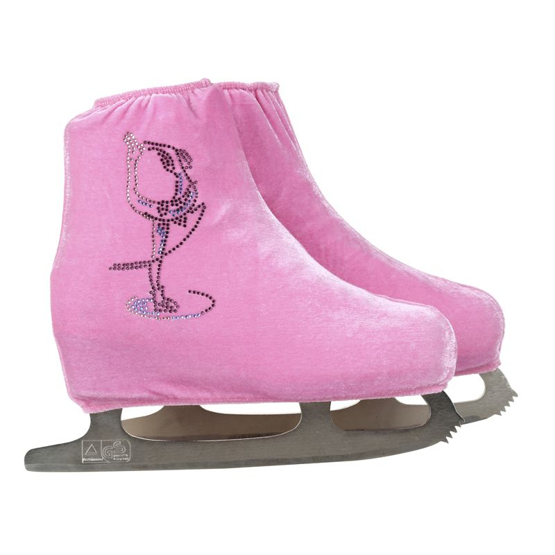 24 Colors Child Adult Velvet Ice Skating Figure Skating Shoes Cover Roller Skate Fabric Accessories White Skater Rhinestone