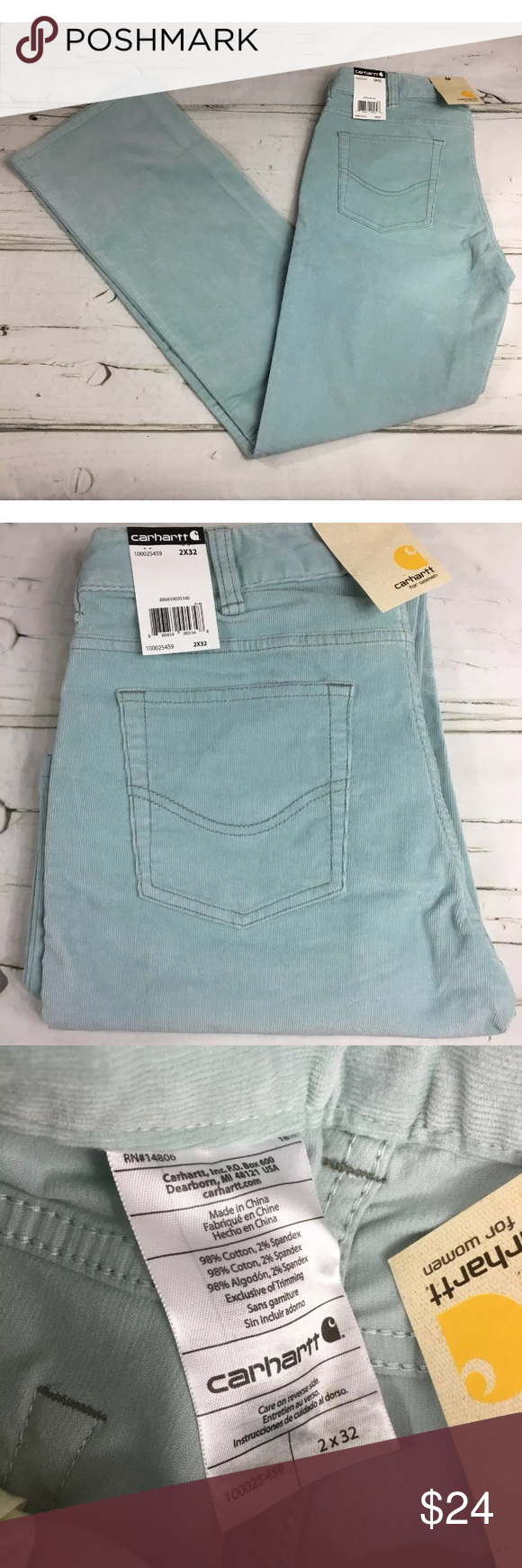 NWT Carhartt Women's Corduroy Jeans Pants Carhartt Women's Corduroy Jeans Pants Light Blue Button Zip 2/32 NWT Carhartt Jeans Straight Leg #carharttwomen NWT Carhartt Women's Corduroy Jeans Pants Carhartt Women's Corduroy Jeans Pants Light Blue Button Zip 2/32 NWT Carhartt Jeans Straight Leg #carharttwomen