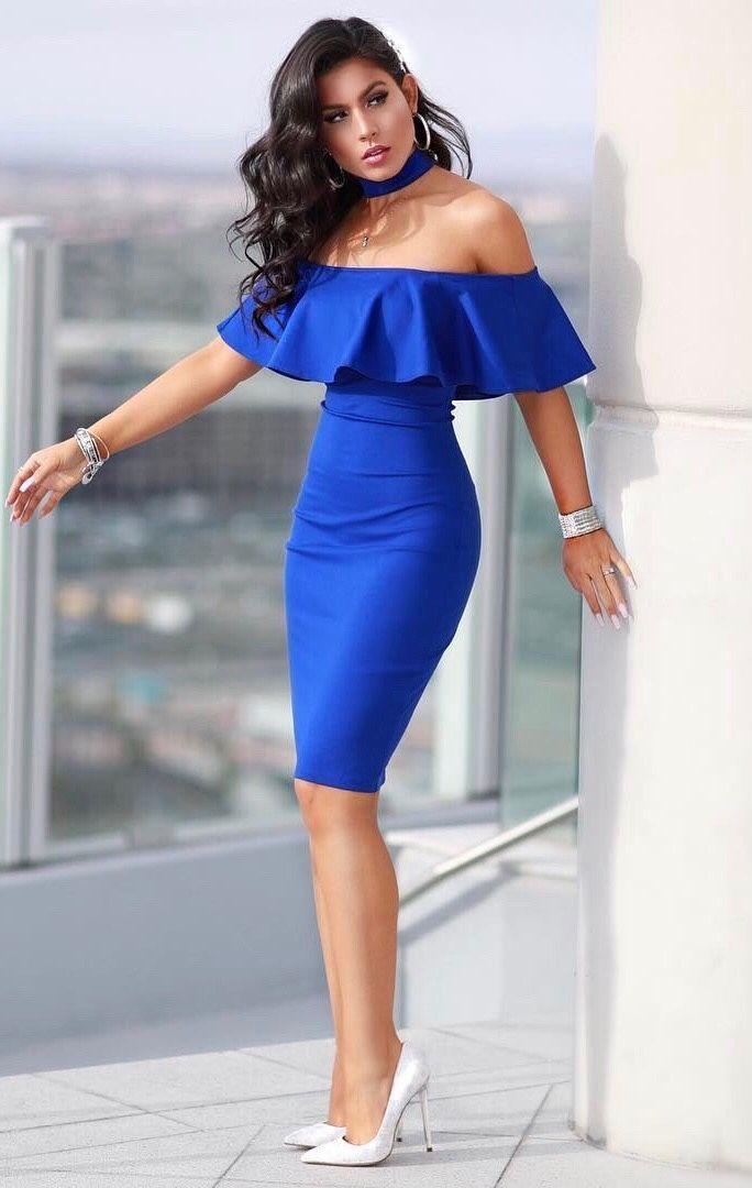 roressclothes clothing ideas  women fashion blue dress 5362445dfd4d