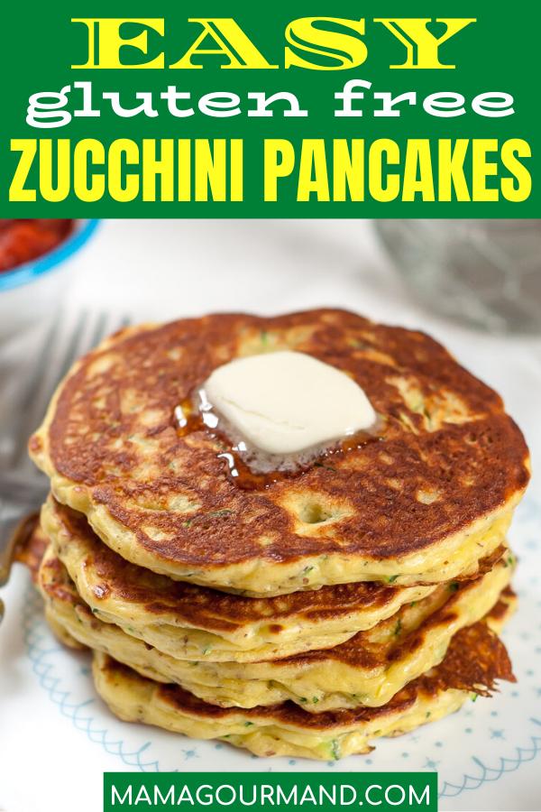 Gluten Free Zucchini Pancakes In 2020 Vegan Recipes Easy Recipes Gluten Free Zucchini