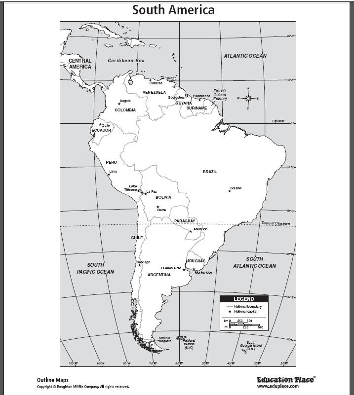 Free Maps Of South America Httpwwweduplacecomssmaps - Us map eduplace