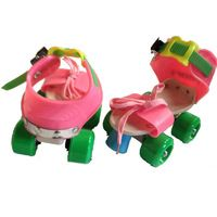 New Beginners Lace Up Roller Skates Quad Skates Shoes Double Line Skating Shoes…