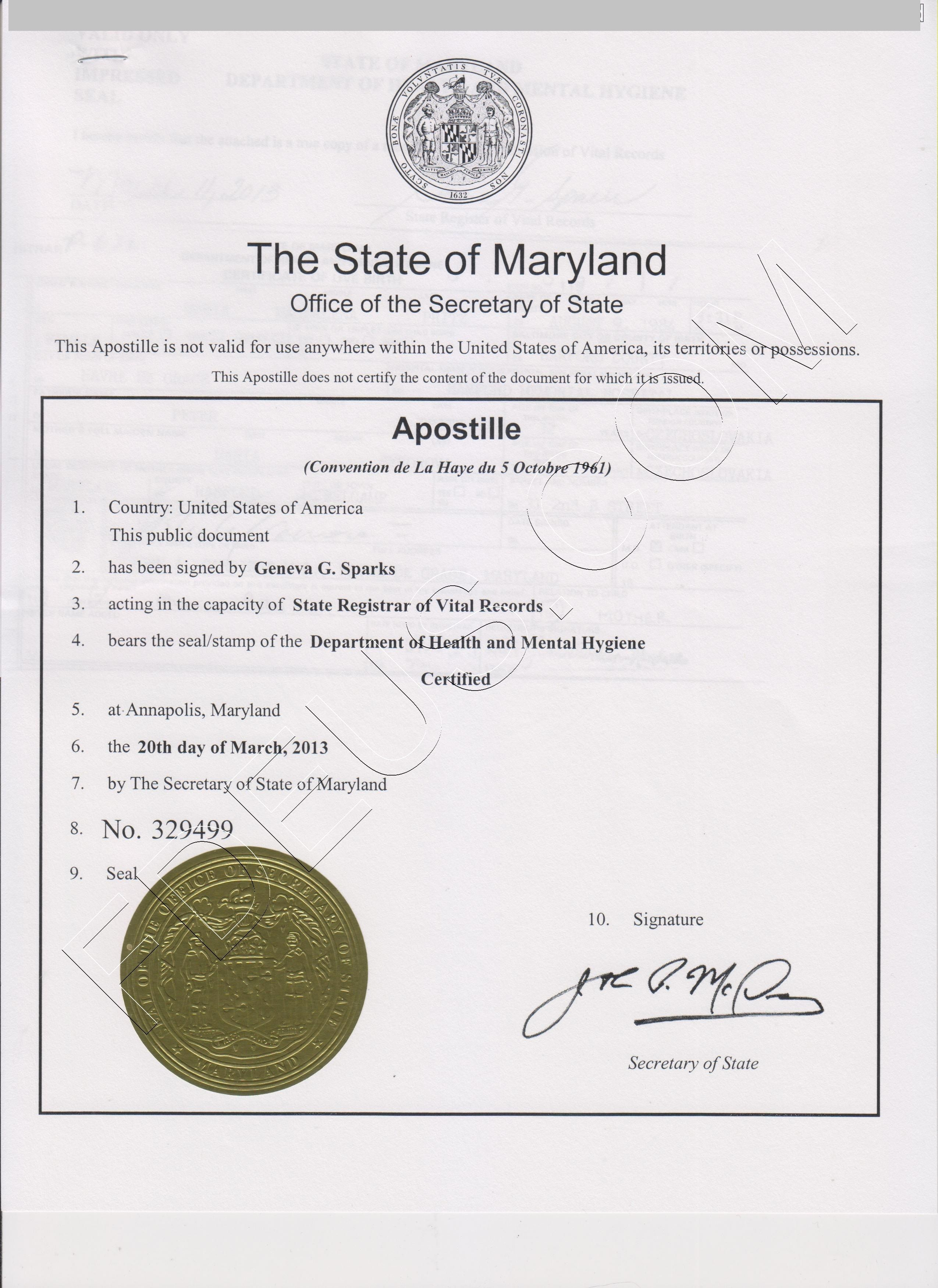 maryland apostille   with images