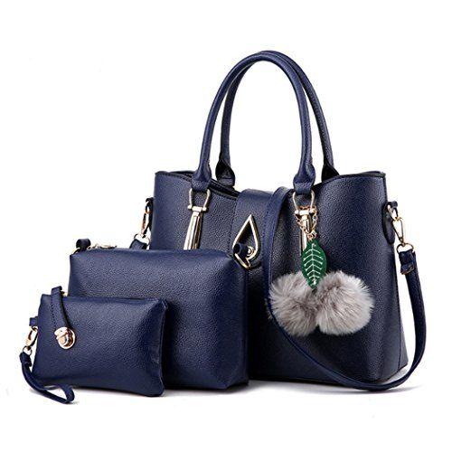 18a91a4d0216 Generic Fashion Ladies A Set Three Pieces Womens PU Leather Handbag ...