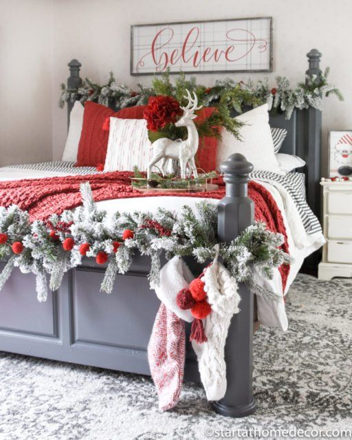 How to Create a Christmas Master Bedroom - Start at Home Decor