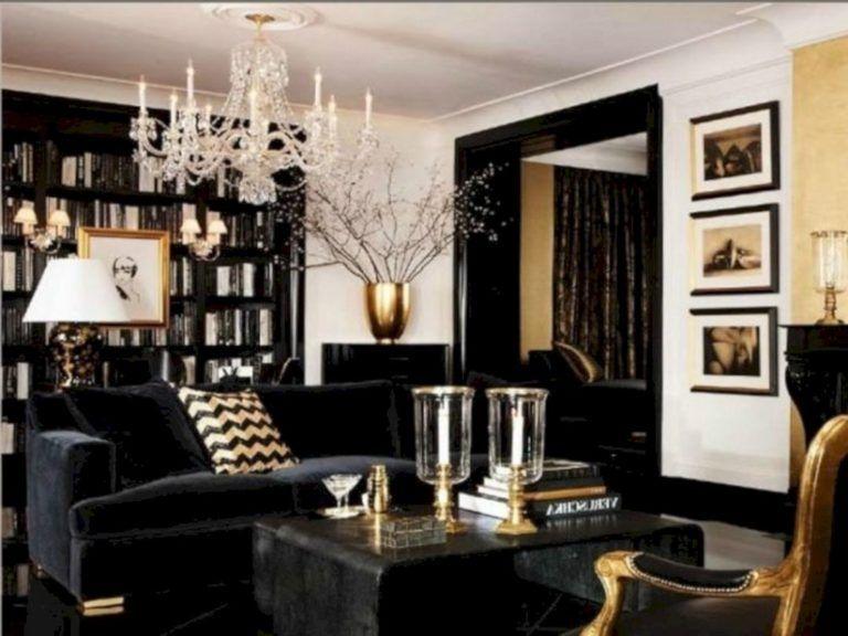Black White And Gold Living Room Design, Black White And Gold Living Room