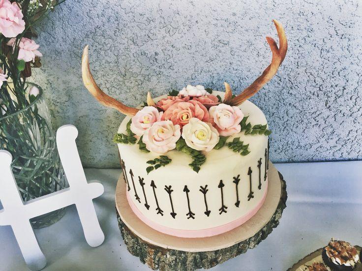Gender Reveal Cake Red Deer