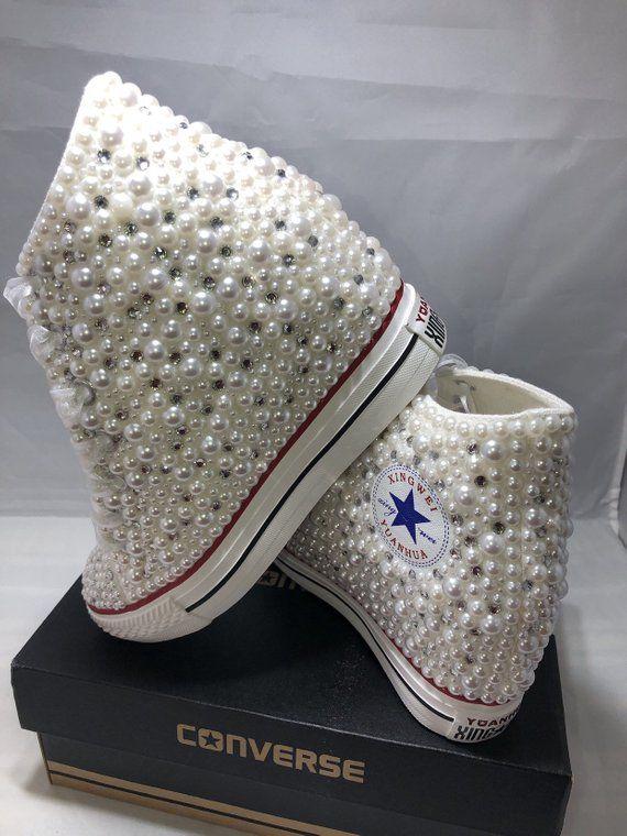 Off Brand Wedge Wedding Sneakers Bridal Sneakers Bling