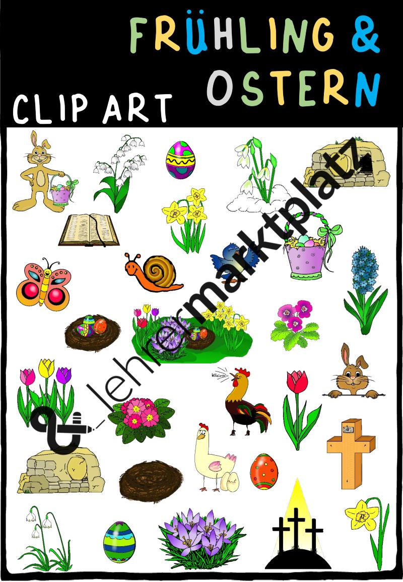 Frühling & Ostern - cliparts – Ethik, Religion, Sachunterricht ...