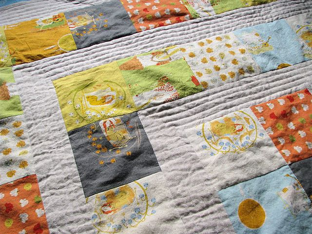 quilting lines.