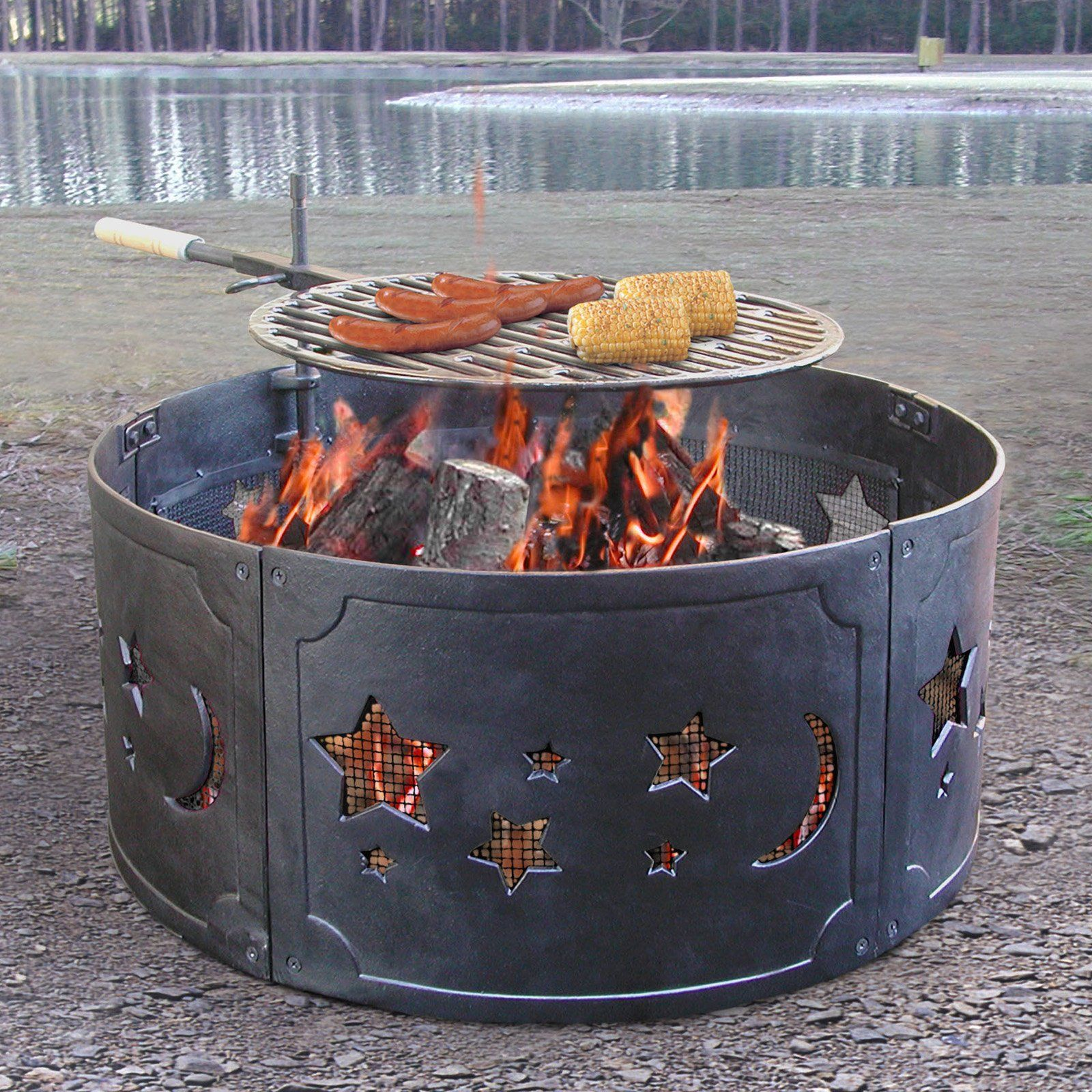 Have To Have It Landmann Big Sky Firering Stars And Moons Fire Pit Fire Pit Ring Fire Pit Iron Fire Pit