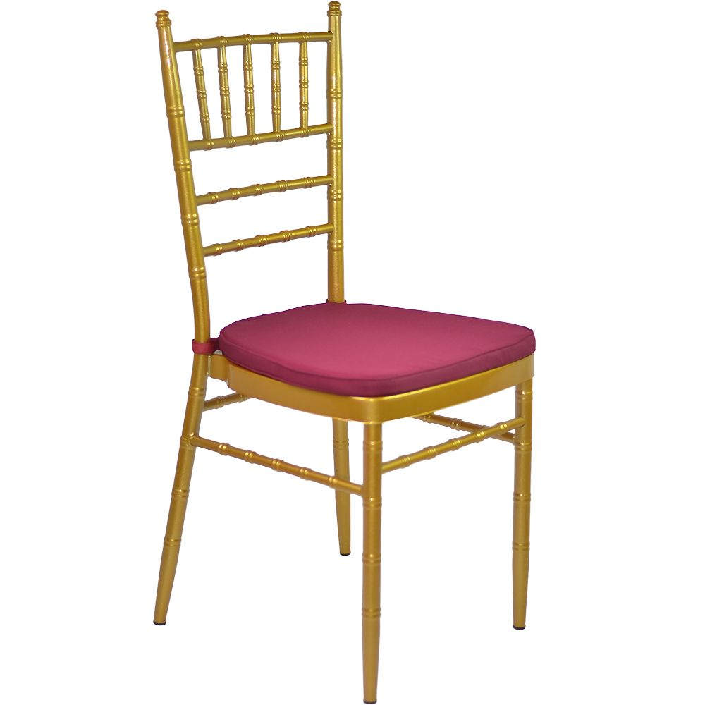Gold Tiffany Chair with Red Cushion