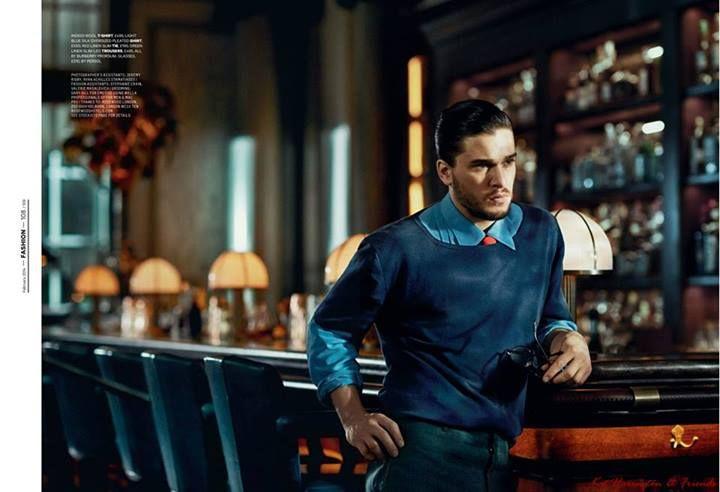 """'Tis the next season"": Kit Harington para Esquire UK Febrero 2014 | Male Fashion Trends"