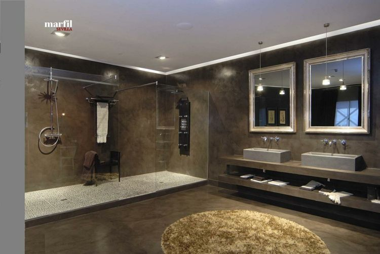 cuarto de baño de marfil sevilla | Baños | Pinterest | Microcemento ...
