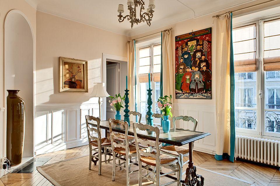 Beautiful & Vintage Paris Apartment  Dining Room View  Quaint Endearing Apartment Dining Room Inspiration Design