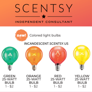 25 Watt Red Scentsy Light Bulb Scentsy Selling Scentsy Scentsy Online Party
