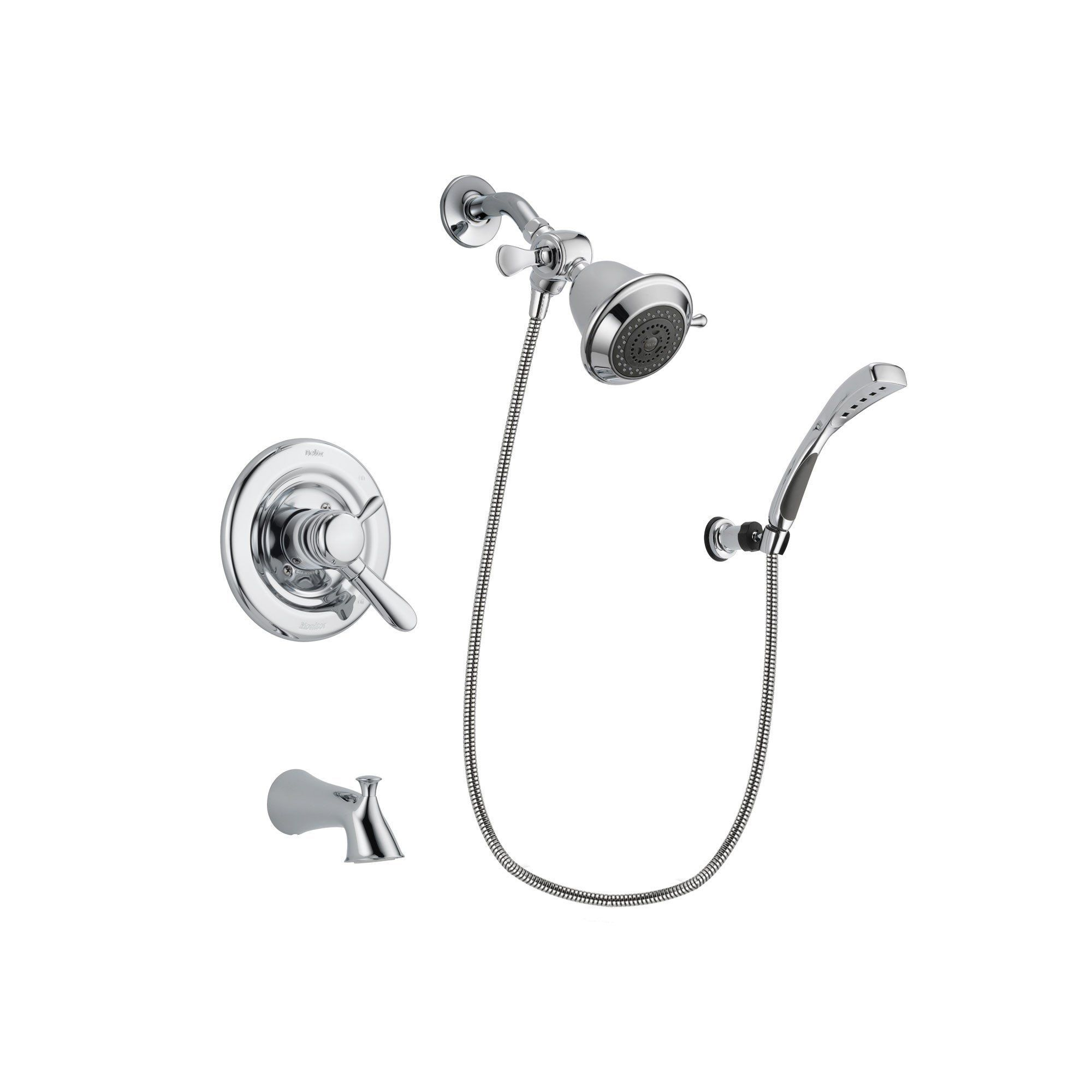 Delta Lahara Chrome Finish Dual Control Tub And Shower Faucet