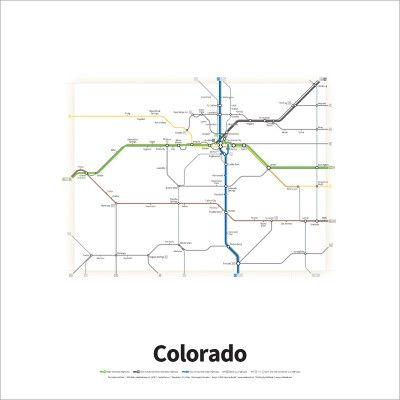 A simplified road map of every Interstate Highway and U.S. ...