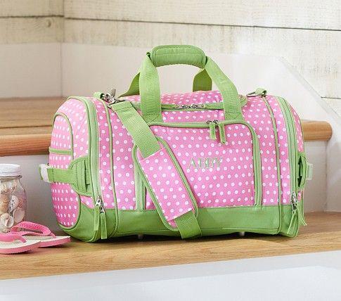 a230bc9f7758 Mackenzie Pink Dot Small Duffle Bag