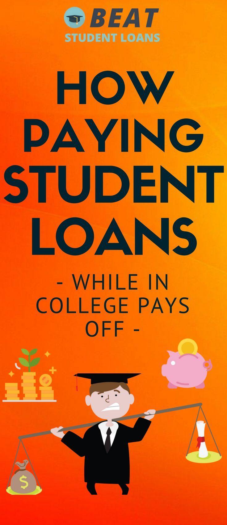 How paying student loans while in college pays off