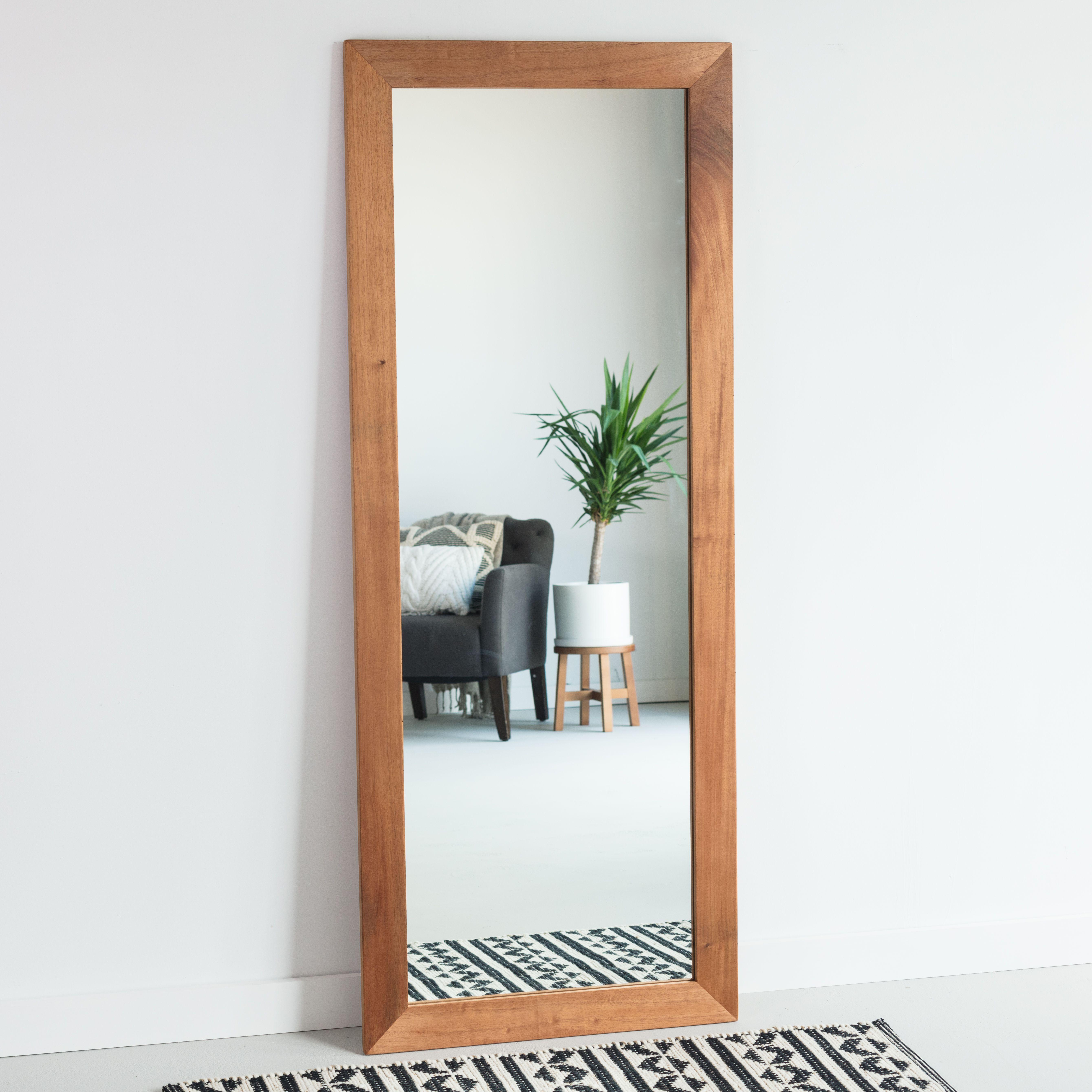 African mahogany full length mirror floor mirror