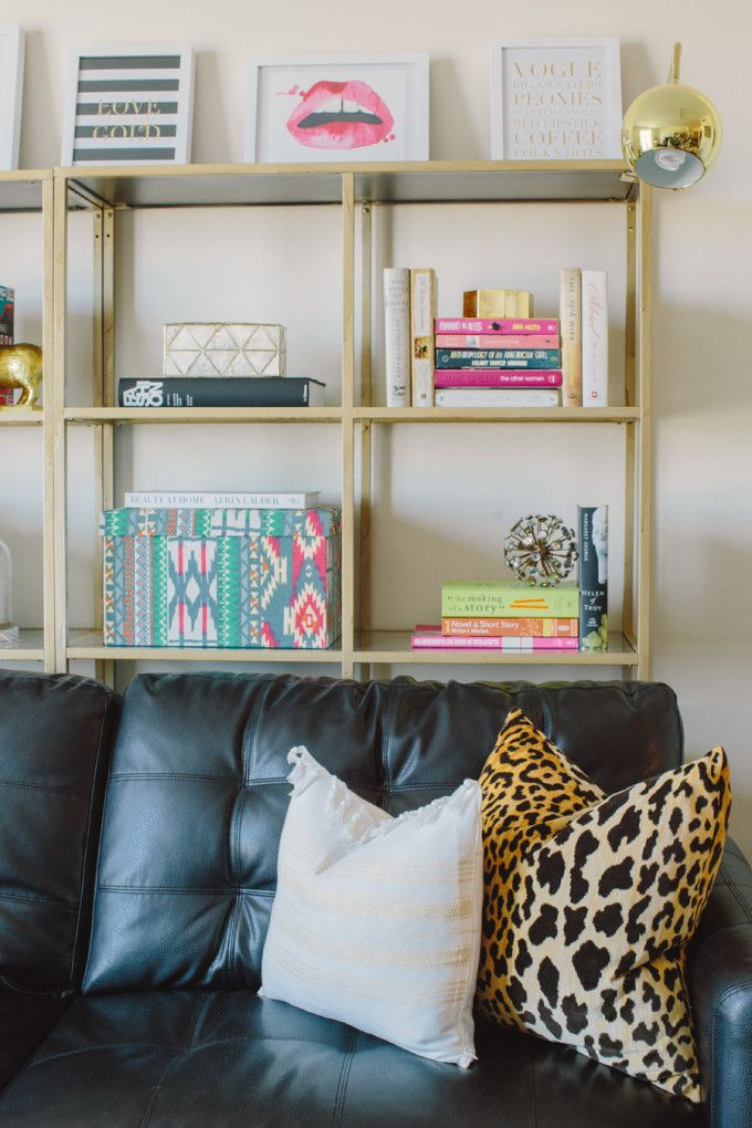 Style Me Pretty Behind The Blog Home Feature Home Living Room Decor Shelf Behind Couch