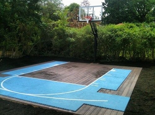 Basketball Court On A Deck Basketball Courts Pinterest