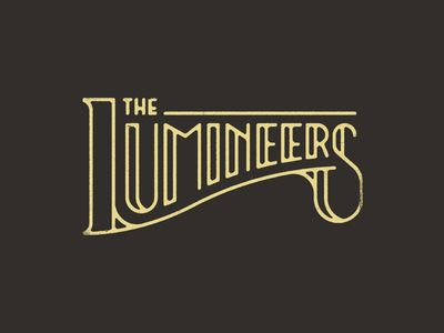The Lumineers Typography Calligraphy And Lettering Band Logo