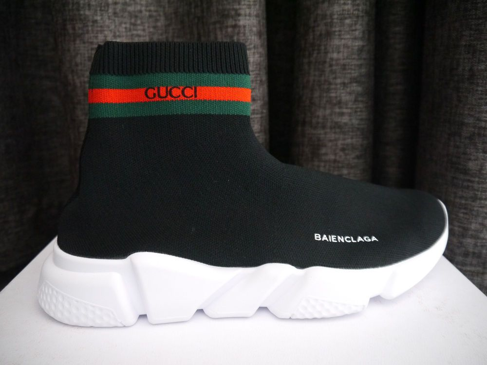 Size 9 Men S Balenciaga X Gucci Speed Trainer Knit Sock Multicolor