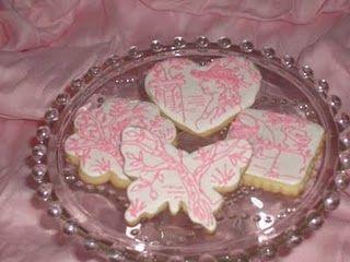 Pink toile cookies