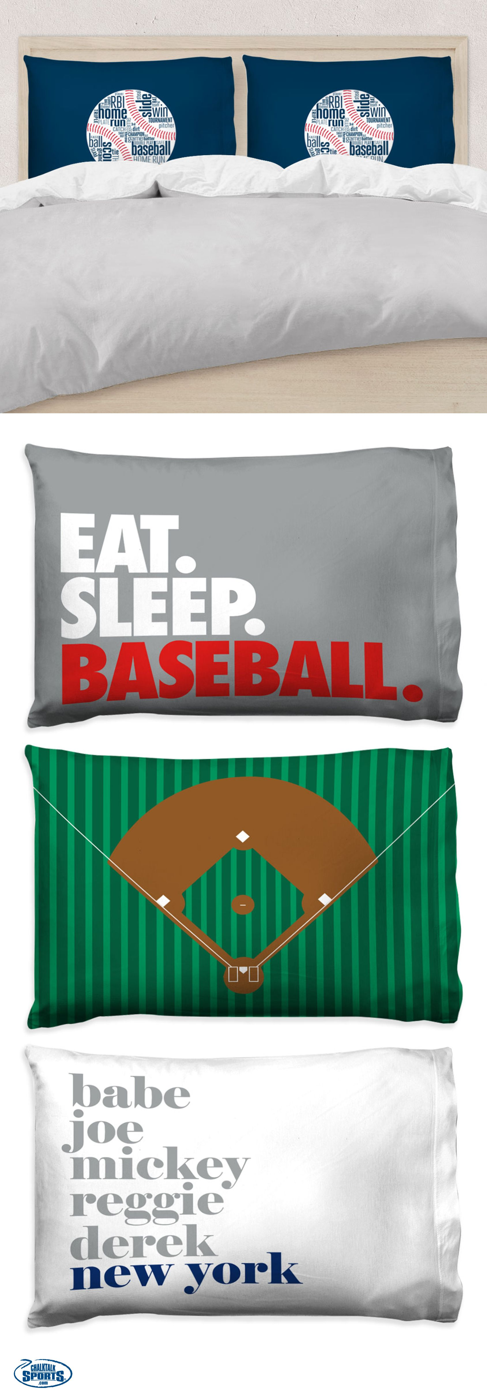 Our New Baseball Pillow Cases Are The Perfect Way To Add A Touch Of Style