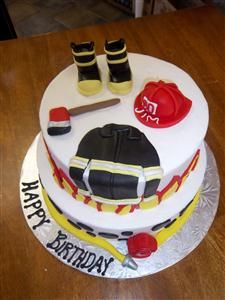 Fireman Cake Birthday Cakes Fireman Cake Cake Fire Fighter Cake