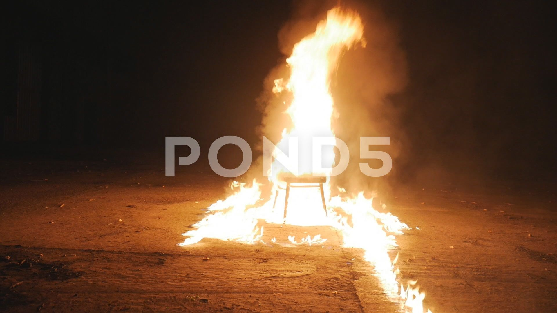 The Chair Lights Up In The Fire Stock Footage Ad Lights Chair Fire Footage In 2020 Fire Stock Stock Footage Stock Video