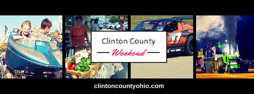 ☀☀☀ Ready for a WONDERFUL weekend? What to do:  * Clinton County Fair, Clinton County Fairground * Clinton County Farmers' Market * ECTA High Speed Racing, Wilmington Air Park  * Chuck Wagon Dinner Ride, Bonnybrook Farms   More Clinton County, Ohio Events Details:  http://www.clintoncountyohio.com/list/events  #fairweek #markets #familytravel