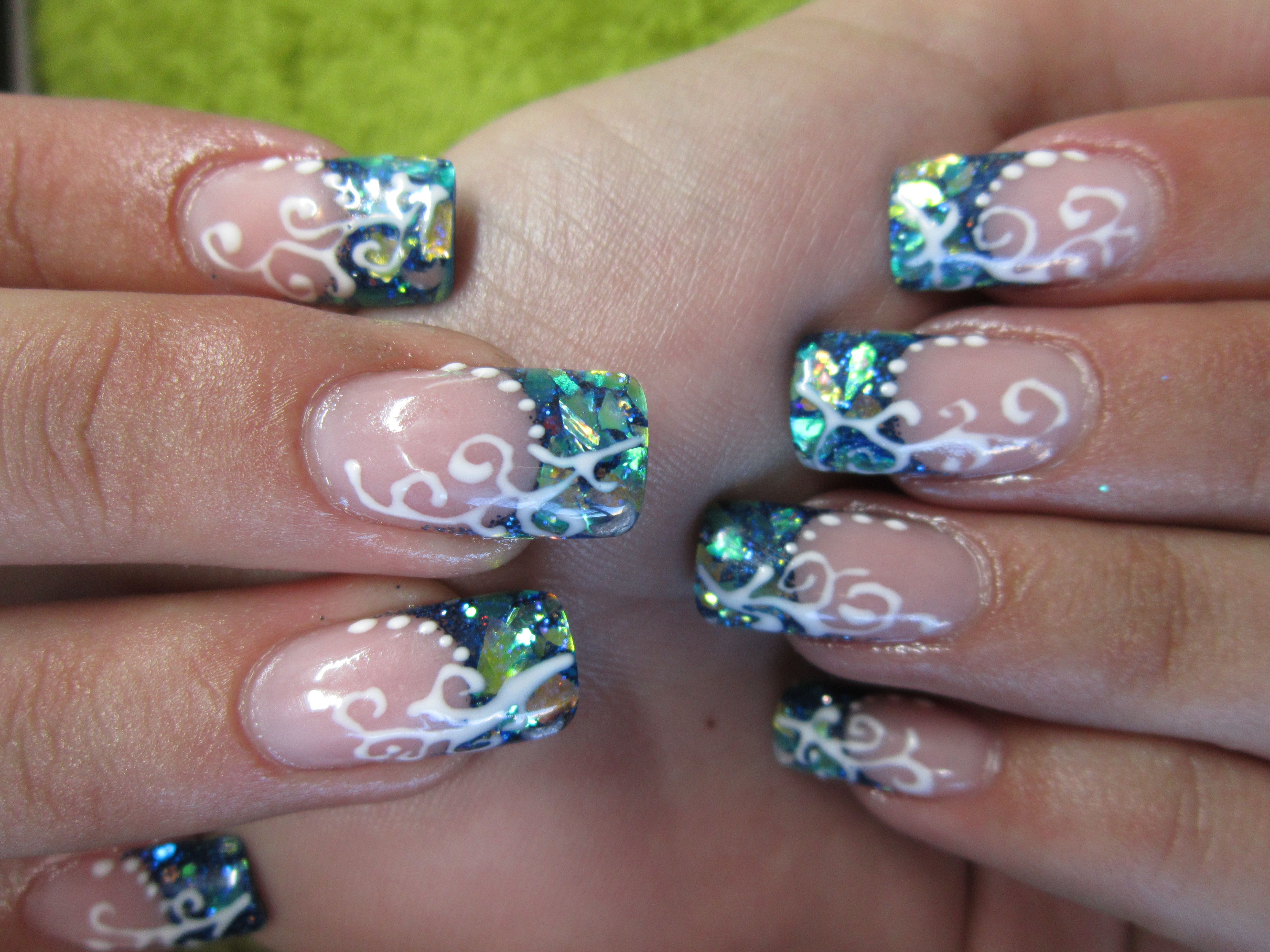 Young Nails acrylic, mylar and gel line designs | Nails done by ME ...