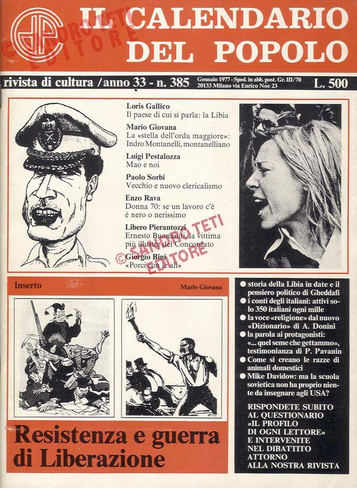 Calendario Del 1977.Il Calendario Del Popolo N 385 1977 Il Calendario Del