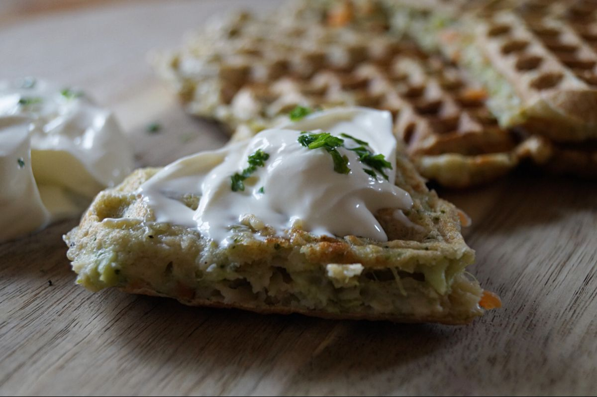 Gemüsewaffeln // Brokkoli und Karotten für kleine Selberesser – BLW geeignet