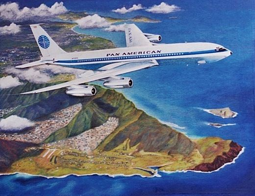 Paa 707 Hnl Pan Am Travel Posters National Airlines