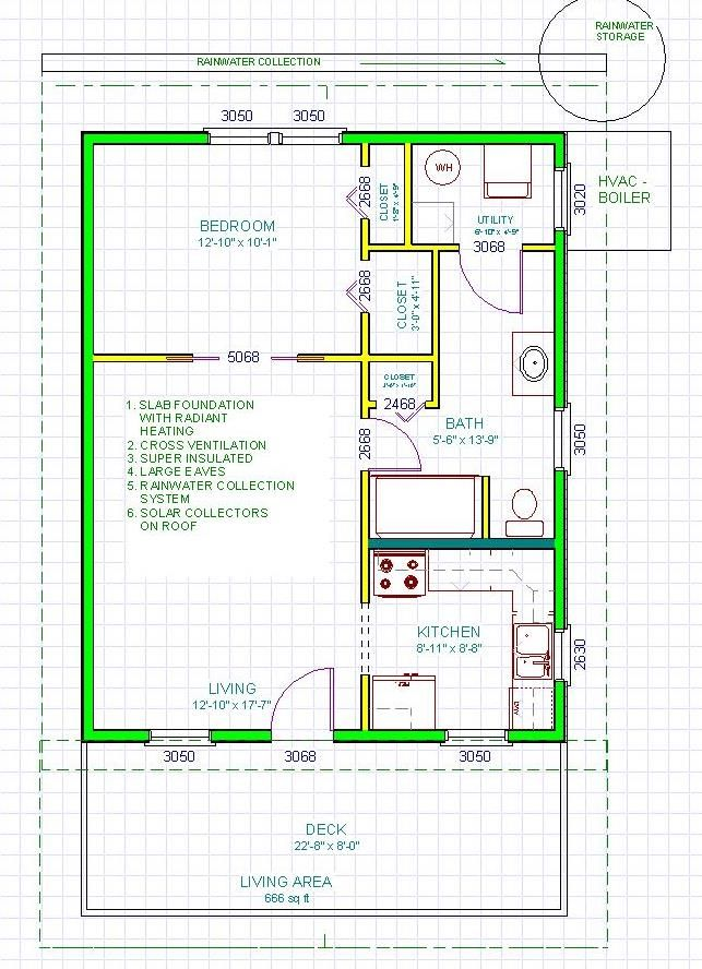 Kokoon Homes SIP Kit - Pod 660 Floor Plan $18,557 | Small Spaces ...