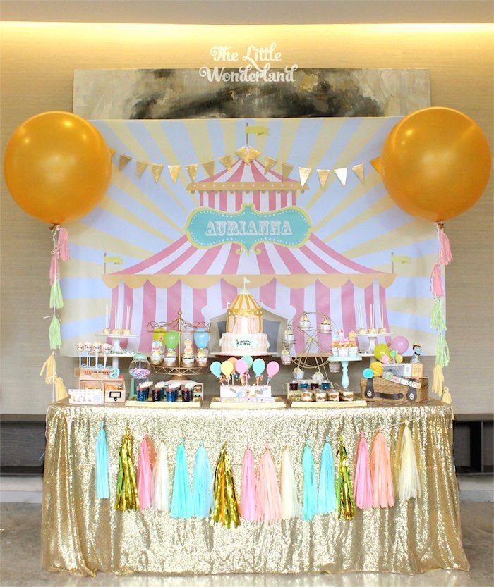 Pastel Carnival Birthday Party