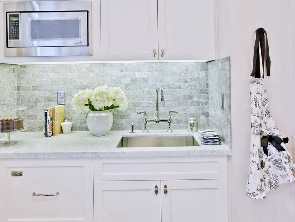 how tile backsplash with subway rustic kitchen traditional brown