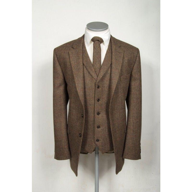 Vintage brown tweed wedding suit hire. | Matt\'s pins | Pinterest ...