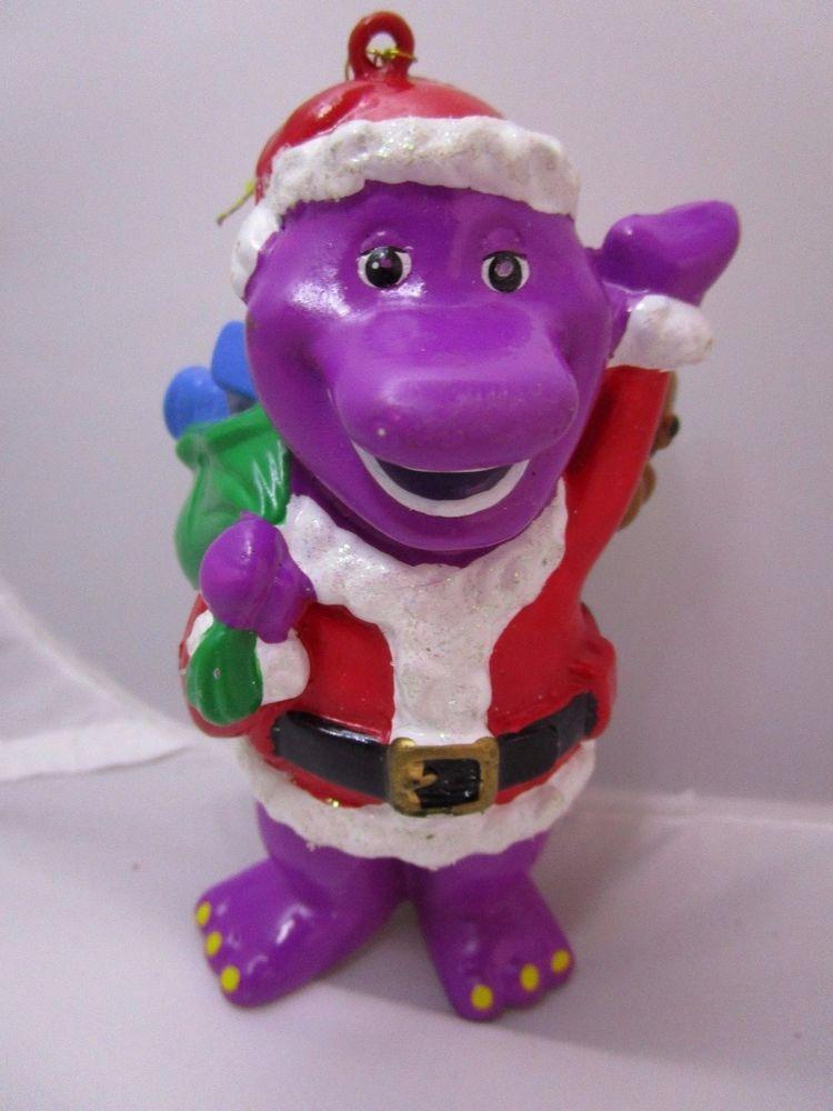 Kurt Adler Sesame Street Christmas Ornament Barney the Dinosaur ...