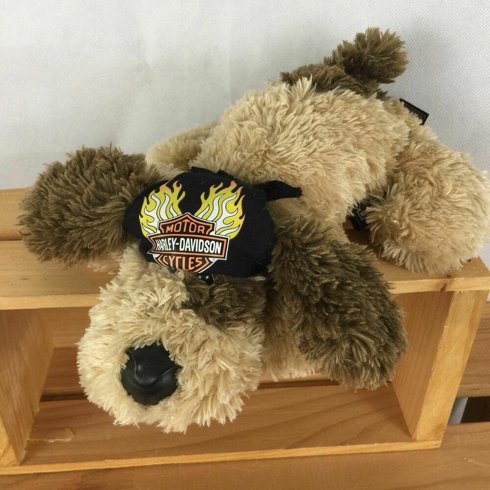 Harley Davidson Plush Puppy Dog Biker Bandana Stuffed Animal 2005
